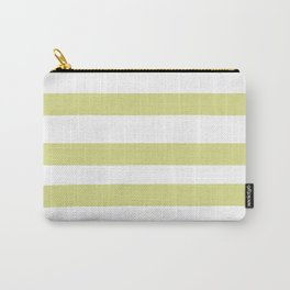 VA Lime Green - Lime Mousse - Bright Cactus Green - Celery Hand Drawn Fat Horizontal Lines on White Carry-All Pouch