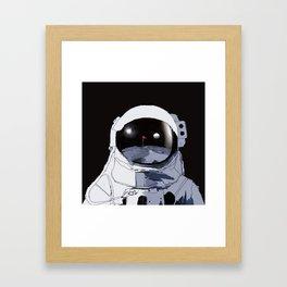 Astronaut Golf Course on the Moon Framed Art Print