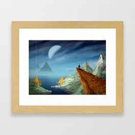 The View From Up Here Framed Art Print