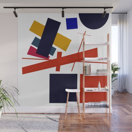 Geometric Abstract Malevic #12 Wall Mural