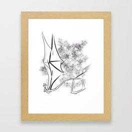The Happy Dragon Framed Art Print
