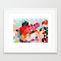 geo Framed Art Prints featuring Heavy words 01. by Three of the Possessed