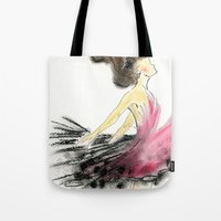 dance Tote Bags featuring Dance by Natalie Woo artwork