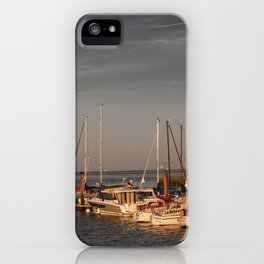 Horumersiel marina lower saxony Germany ( Northsea ) iPhone Case