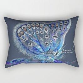 Love Lorn Butterfly-Blue & Navy Palette Rectangular Pillow