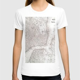 Vintage New York City Map T-shirt