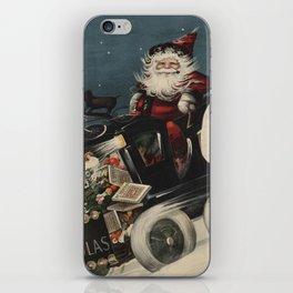 Vintage Santa Claus in a Motorized Sleigh (1920) iPhone Skin