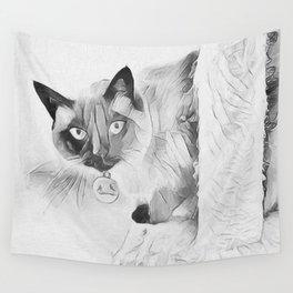 Peek A Boo Kitty Wall Tapestry