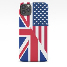 American and Union Jack Flag iPhone Case