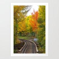Railway to Autumn Art Print