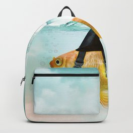 Goldfish with a Shark Fin, wave Backpack