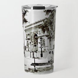 The Arc de Triomphe Paris Black and White Travel Mug
