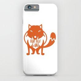 Fur Fox Sake iPhone Case
