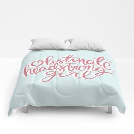 Obstinate Headstrong Girl Book Quote Comforters