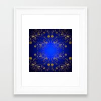floral pattern Framed Art Prints featuring Floral Pattern by Looly Elzayat