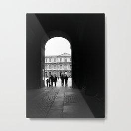 Visiting the Louvre Metal Print