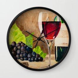 Red wine Wall Clock