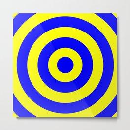 Target (Blue & Yellow Pattern) Metal Print