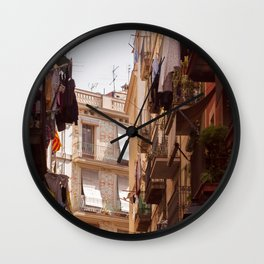 On the sunny side of the street Wall Clock