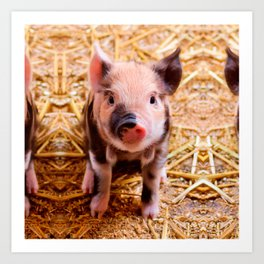 Cute Baby Piglet Farm Animals Babies Art Print