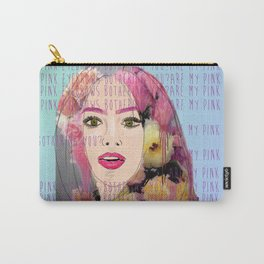 Are my pink eyebrows bothering you?  Carry-All Pouch