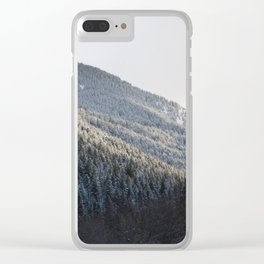 Powdered Trees Clear iPhone Case