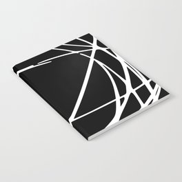 Black and White Circles and Swirls Modern Abstract Notebook