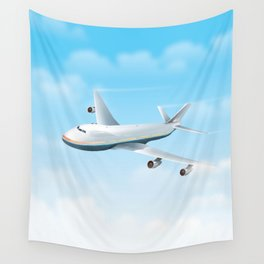 Commercial Airliner Wall Tapestry