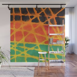 Colorful giraffe pattern Wall Mural