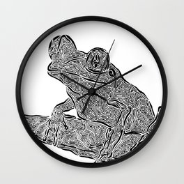 Froggy Day Wall Clock