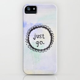 puerta project: just go  iPhone Case