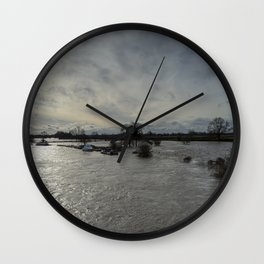 Flooded River Wall Clock
