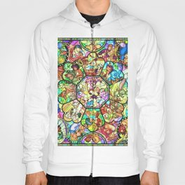 Mickey Mouse and Friends - Stained Glass Window Collage Hoody