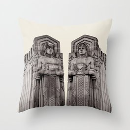 Guardians in Oatmeal Throw Pillow