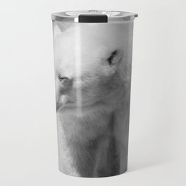 Polar Bear Photography | Canada | Black and white | Mammal | Nature | Wildlife Travel Mug
