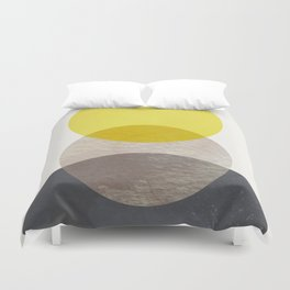 SUN MOON EARTH Duvet Cover