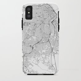 San Francisco White Map iPhone Case