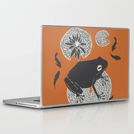 Frog on a Lily Pad Laptop & iPad Skin