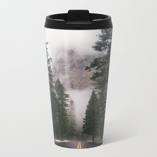 Mountain Road II Metal Travel Mug