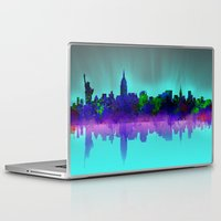 new york skyline Laptop & iPad Skins featuring New York skyline by Bekim ART
