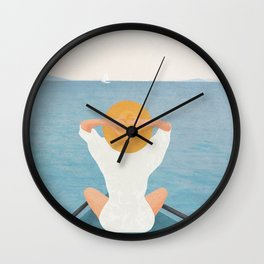 Summer Vacation I Wall Clock