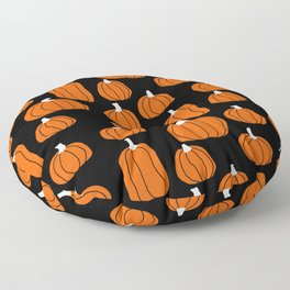 Pumpkins - minimal orange pumpkin, october, halloween black and orange pumpkins Floor Pillow