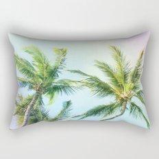 Relaxing Rainbow Color Palms Rectangular Pillow