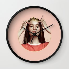 HANDS OF GOLD Wall Clock