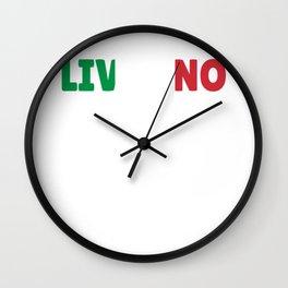Livorno Italy flag Sardinia Gift Wall Clock