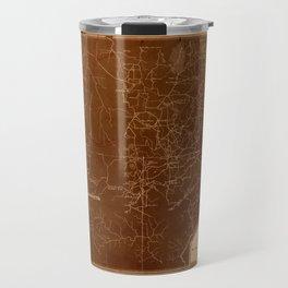 Map Of Georgia 1864 Travel Mug