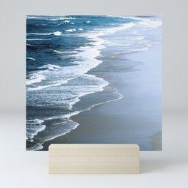 Rogue Beach With Dramatic Waves Mini Art Print