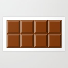 For the love of chocolate Art Print