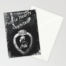 """Purple Hearts Reunited"" by Dark Mountain Arts Stationery Cards"