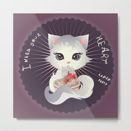 I neet your heart for my ramen Metal Print